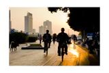 Guangzhou Cyclists Fotoprint van Charles Bowman