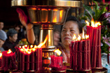 Candles In Longshan Temple Taipei Photographic Print by Charles Bowman