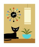 Mid Century Ball Clock 2 Photographic Print by Donna Mibus