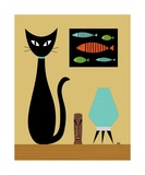 Cat on Tabletop 2 Photographic Print by Donna Mibus