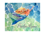 Swimming Mermaid Powder Room Photographic Print by sylvia pimental