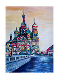 St Petersburg With Church Of The Savior On Blood Giclee Print by Martina Bleichner