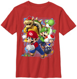 Youth: Super Mario- Character Blast T-shirts