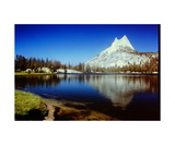 Cathedral Peak above Upper Cathedral Lake Photographic Print by Ronald A Dahlquist
