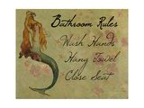 Bathroom Rules Vintage Mermaid Photographic Print by sylvia pimental