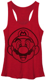 Juniors Tank Top: Super Mario- Face It Womens Tank Tops