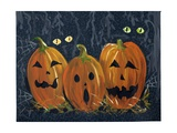 Spooky Eyes Halloween Pumpkins Photographic Print by sylvia pimental