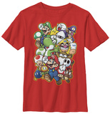 Youth: Super Mario- Character Parade T-Shirt