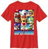 Youth: Super Mario- Game Faces T-shirts