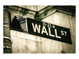 Wall Street Sign New York City Posters