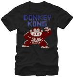 Donkey Kong- 8-Bit Fury T-shirts