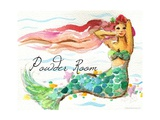 Powder Room Red Hair Mermaid Photographic Print by sylvia pimental