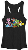 Juniors Tank Top: Super Mario- Group Yoshi Womens Tank Tops