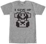 Super Mario- Give Up Shirts