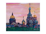 St Petersburg With Church Of The Savior On Blood Posters by Martina Bleichner
