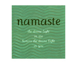 Namaste with Blue Waves Photographic Print by Michelle Calkins