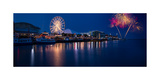 Navy Pier Fireworks Chicago I L Photographic Print by Steve Gadomski