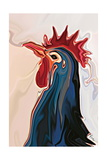 The Blue Rooster Photographic Print by Rabi Khan