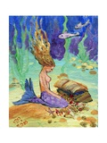 Treasure Chest Mermaid Photographic Print by sylvia pimental