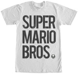 Mario Brothers- Black Logo T-Shirts