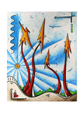 Abstract Landscape Fun PoP Art Tree Poster by Megan Aroon Duncanson