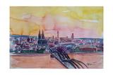 Cologne Skyline with Deutz Bridge and Rhine II Giclee Print by Markus Bleichner