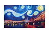 Starry Night in Cologne - Van Gogh Inspirations Giclee Print by Markus Bleichner