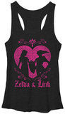 Juniors Tank Top: Legend Of Zelda- Link & Zelda Tank Top