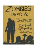 Zombies Dead & Breakfast Halloween Photographic Print by sylvia pimental