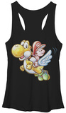 Juniors Tank Top: Super Mario- Flying Yoshi Tank Top