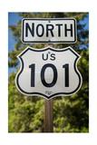 U S 101 Sign California Photographic Print by Steve Gadomski