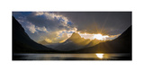 Swiftcurrent Lake Sundown Glacier N P Photographic Print by Steve Gadomski