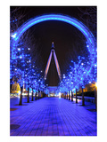 London Eye at Christmas Prints