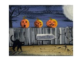 Spooky Path Jack O Lantern Pumpkins Photographic Print by sylvia pimental