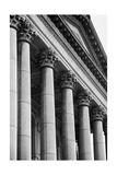 Illinois Capitol Columns BW Photographic Print by Steve Gadomski