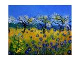 Blue Cornflowers 545130 Giclee Print by  Ledent