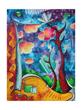 Abstract Colorful Landscape PoP Art Prints by Megan Aroon Duncanson