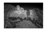 Mount Rushmore South Dakota Dawn BW Photographic Print by Steve Gadomski