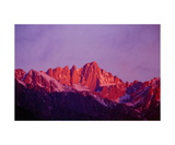 Mount Whitney in Sunrise Alpenglow Photographic Print by Ronald A Dahlquist