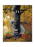 Peek A Boo Ghost & Jack O Lantern Photographic Print by sylvia pimental