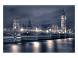 Houses of Parliament at Night Posters