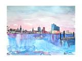 Hamburg Harbour Skyline and Elbe Philharmonic Hall Art by Markus Bleichner