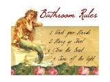 Mermaid Bathroom Rules Fotoprint van sylvia pimental