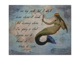 Vintage Mermaid I See my Path Quote Photographic Print by sylvia pimental