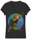 Juniors: Legend Of Zelda- Take Aim V-Neck T-shirts