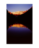 Lake Louise at sunrise Photographic Print by Ronald A Dahlquist