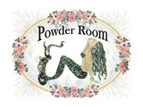 Powder Room Lovely Mermaid Prints by sylvia pimental