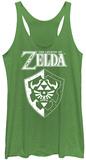 Juniors Tank Top: Legend Of Zelda- Links Shield Podkoszulek