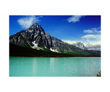 Mount Chephren and Lower Waterfowl Lake Photographic Print by Ronald A Dahlquist