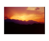 Smoky Sunset over Mount Whitney Photographic Print by Ronald A Dahlquist